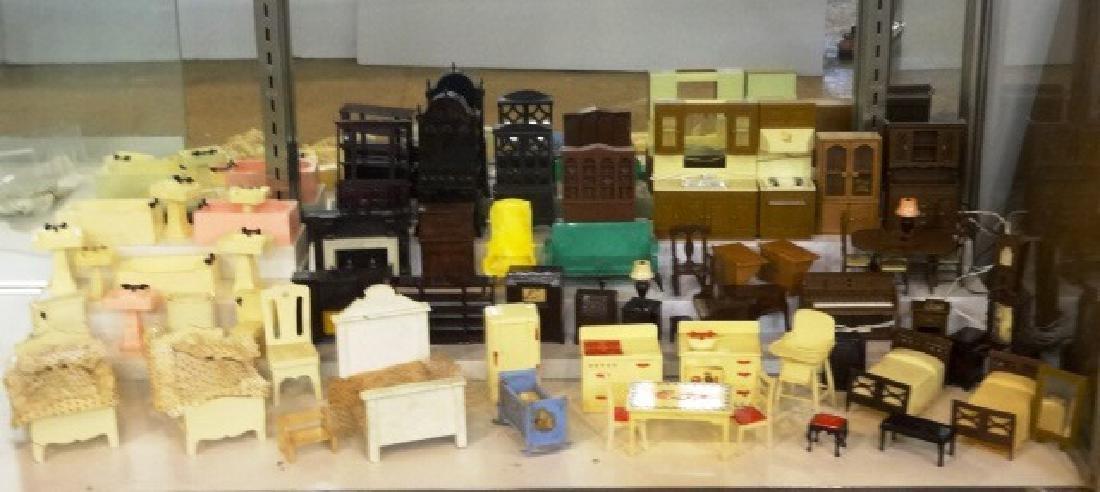 Huge Lot Of Vintage Plastic Dollhouse Furniture