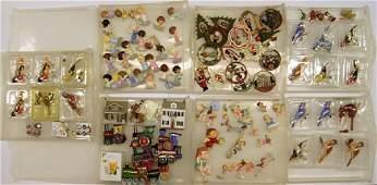 Seven Plastic Tubs Hallmark Ornaments