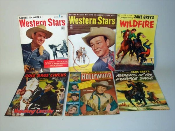 1008: Zane Grey Comics and Cowboy Books six books