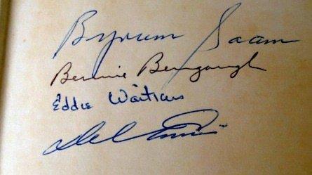 1011: Baseball autographs: Del Ennis, Byrum Saams, Eddi