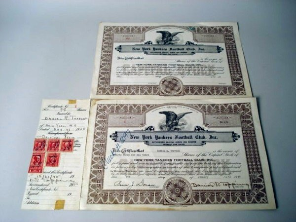 1014: New York Yankees Football club 1947 two pieces