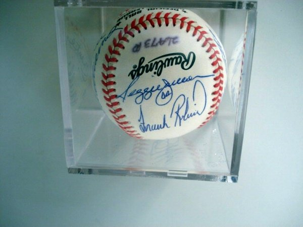 1014B: Autographed Baseball with Eleven 500 Home Run Hi