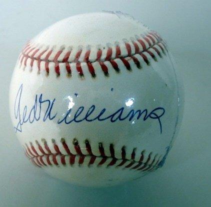 1014C: Ted Williams Autographed Baseball
