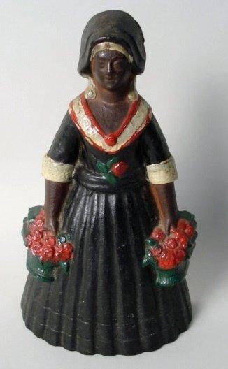 1015: Cast Iron  Doorstop Colonial Woman