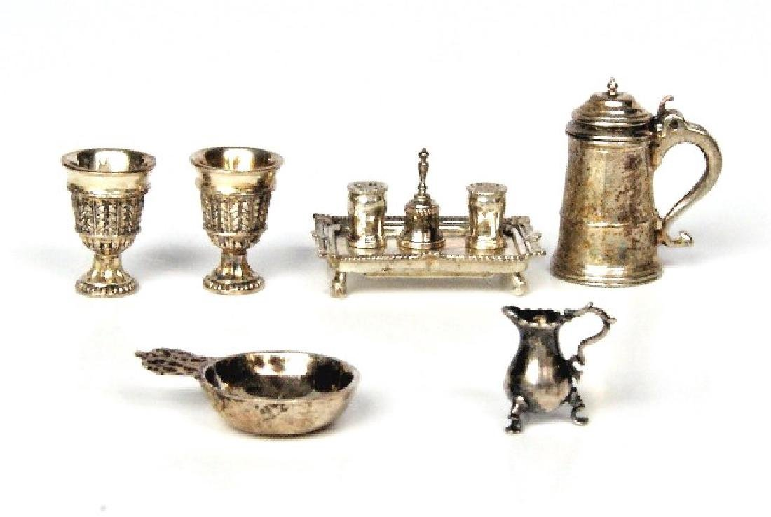 Acquisto Silver Table Articles Dollhouse Miniatures