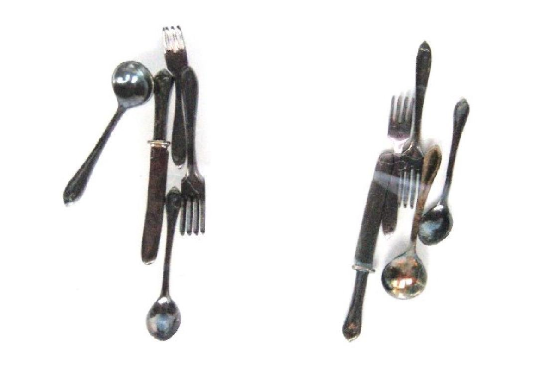 Acquisto Silver Table Articles Dollhouse Miniatures - 2