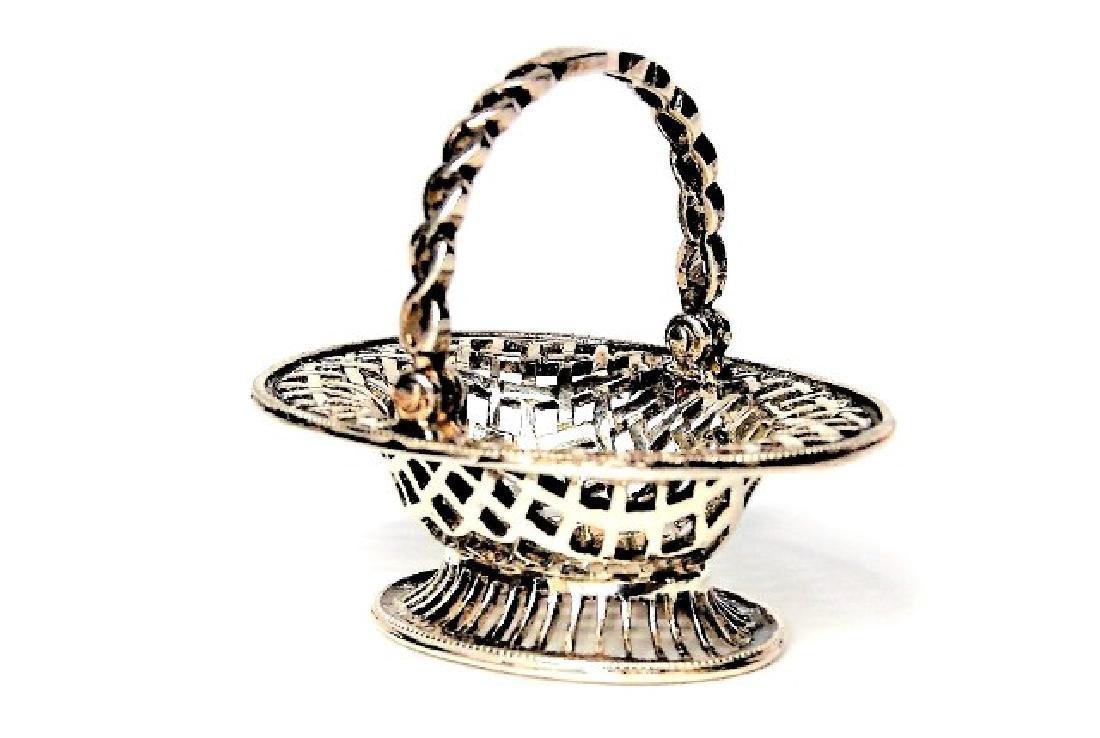 Jens Torp Sterling Bread Basket Dollhouse Miniature