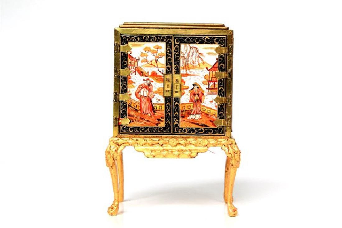 Rosemarie Torre Chinoiserie Collector's Cabinet - 4
