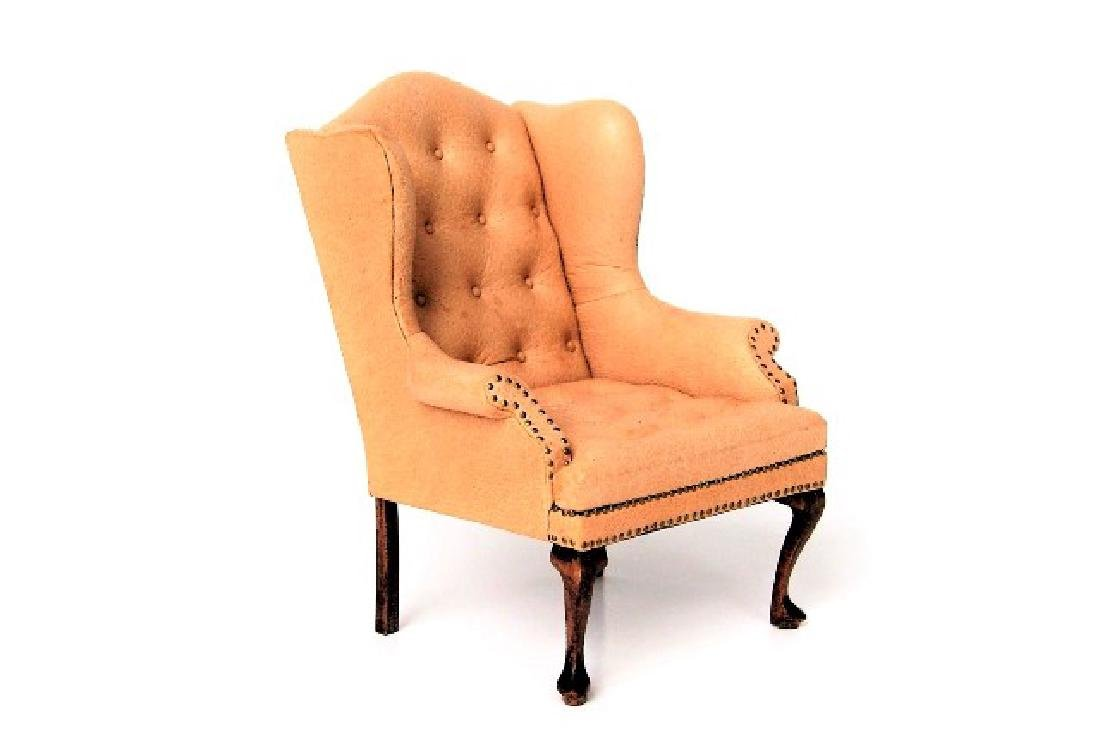 Gail Steffy Leather Wing Back Chair Dollhouse