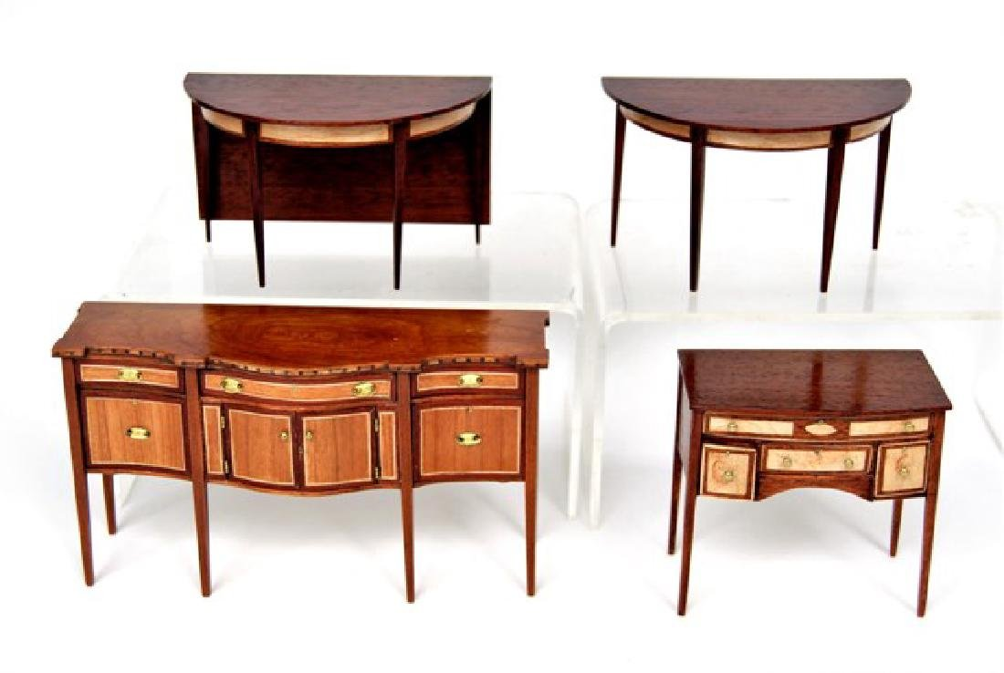 Drinkwater Federal Inlaid Dining Room Set Dollhouse