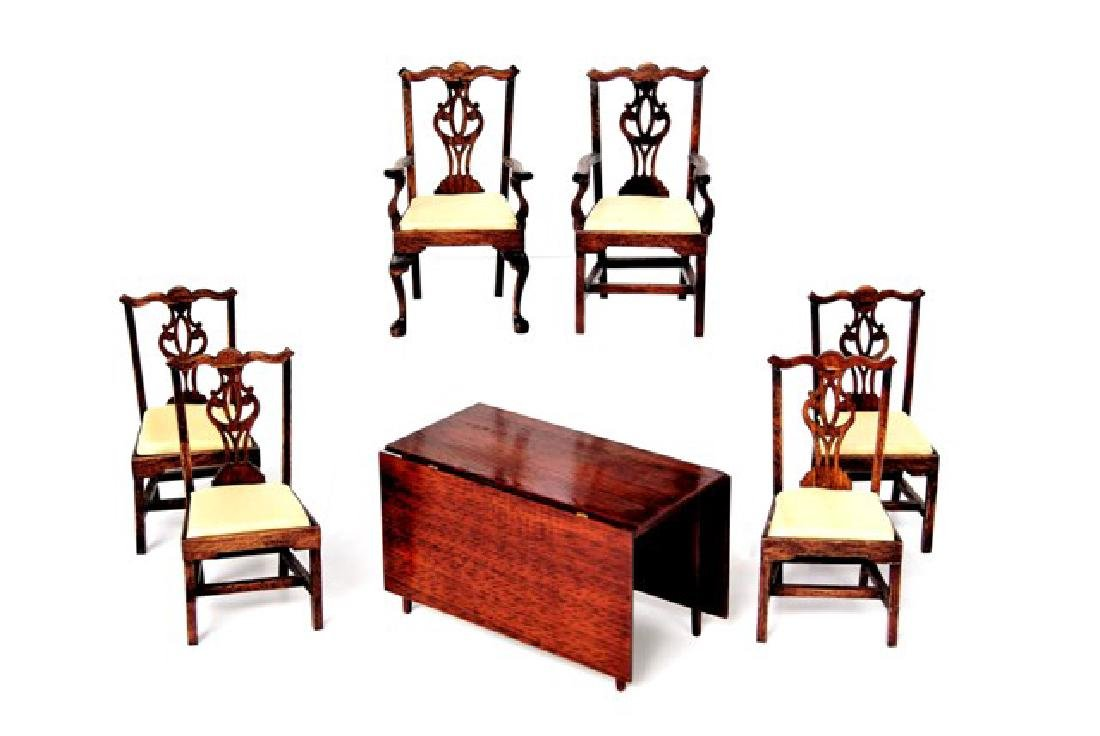Drinkwater Chippendale Chairs & Table Miniatures
