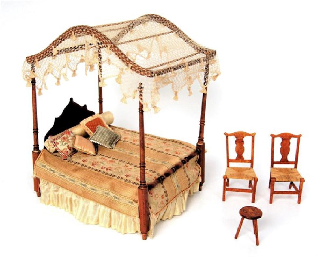 Sheraton Bed & Country Chairs Miniatures