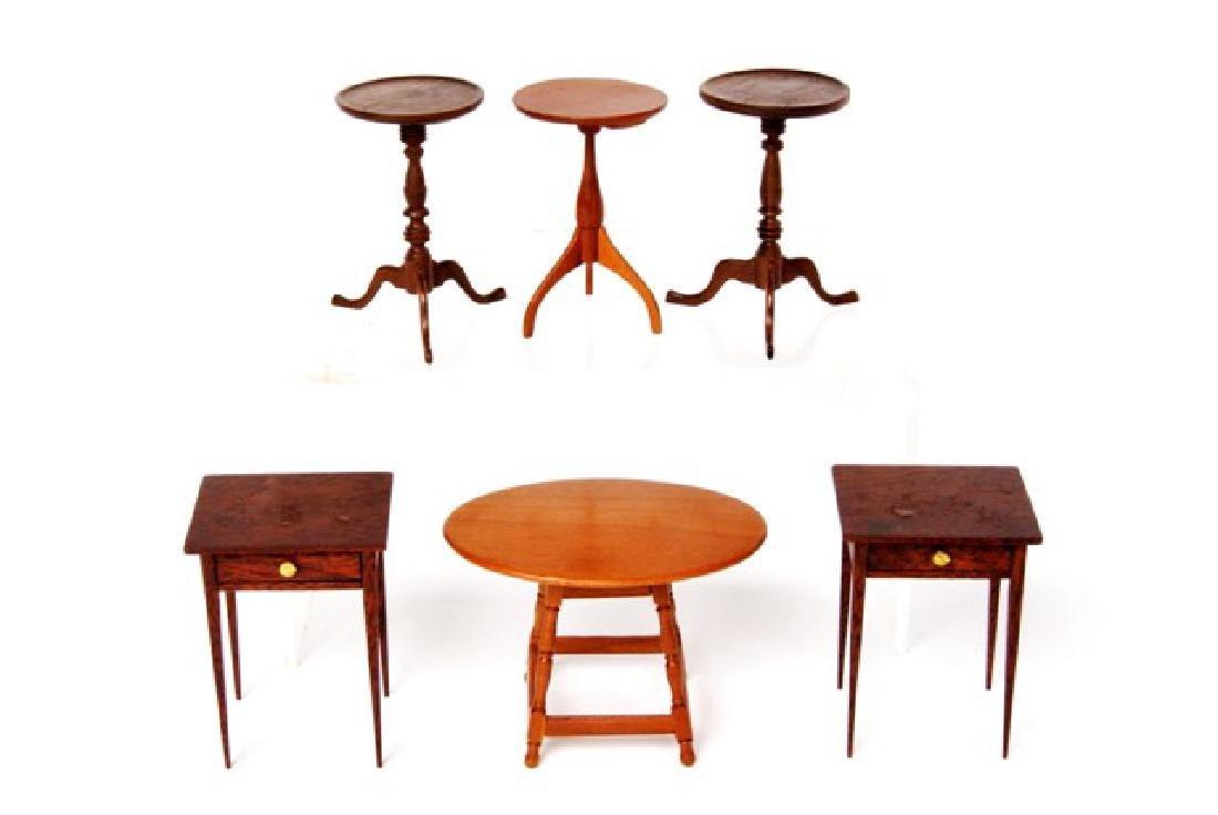 Five Tables By Allen & Cuorsen Dollhouse Miniatures