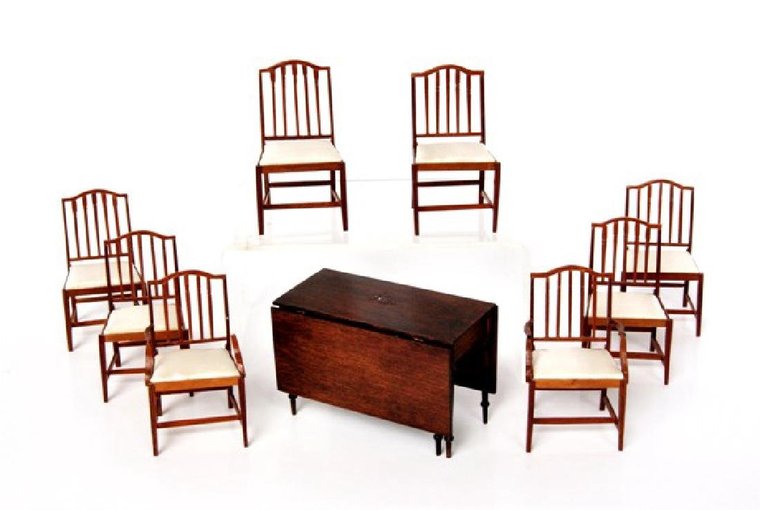 Drinkwater Sheraton D/R Table and Chairs Dollhouse