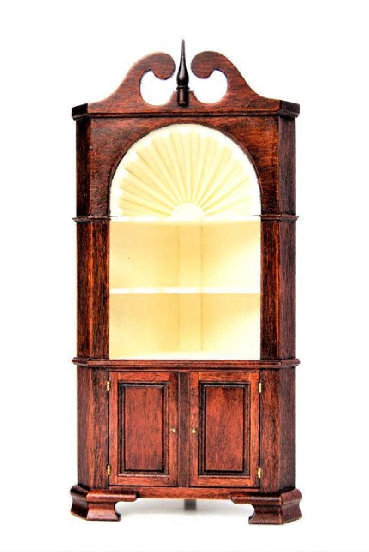 Edward Norton Queen Ann Corner Cabinet Dollhouse