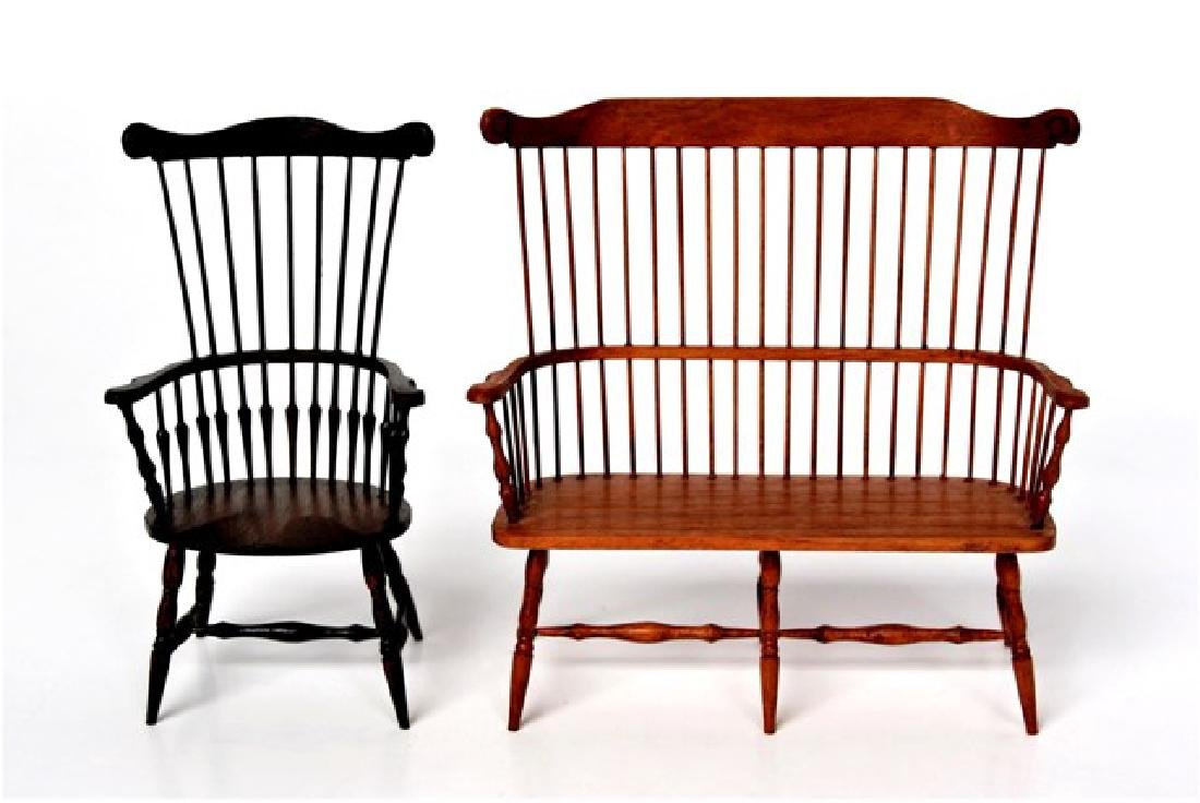 William Clinger Windsor Chair & Bench Miniatures