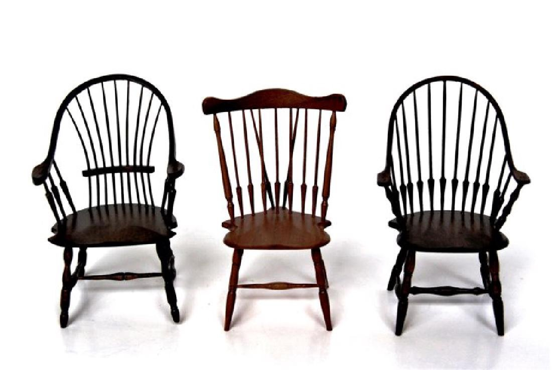 Three William Clinger Windsor Chairs Dollhouse