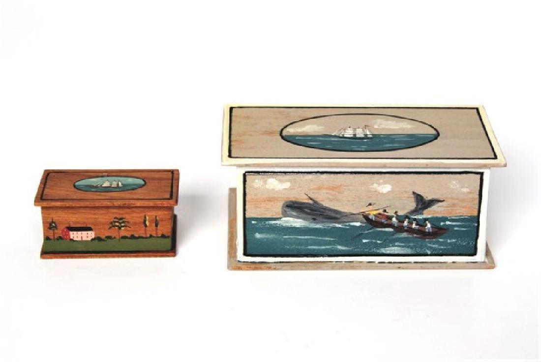 Janet Bailey Sailor's Chests Dollhouse Miniatures