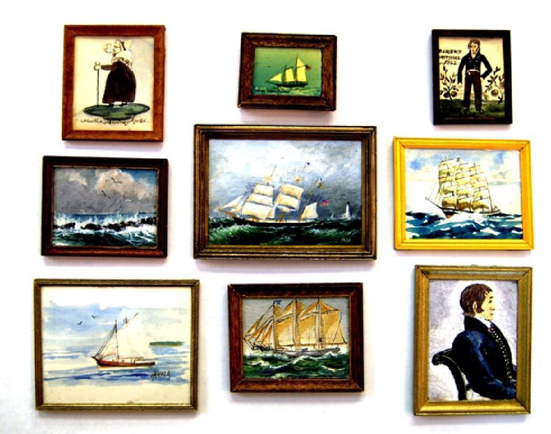Sailing Ships & Captains Paintings for Dollhouse