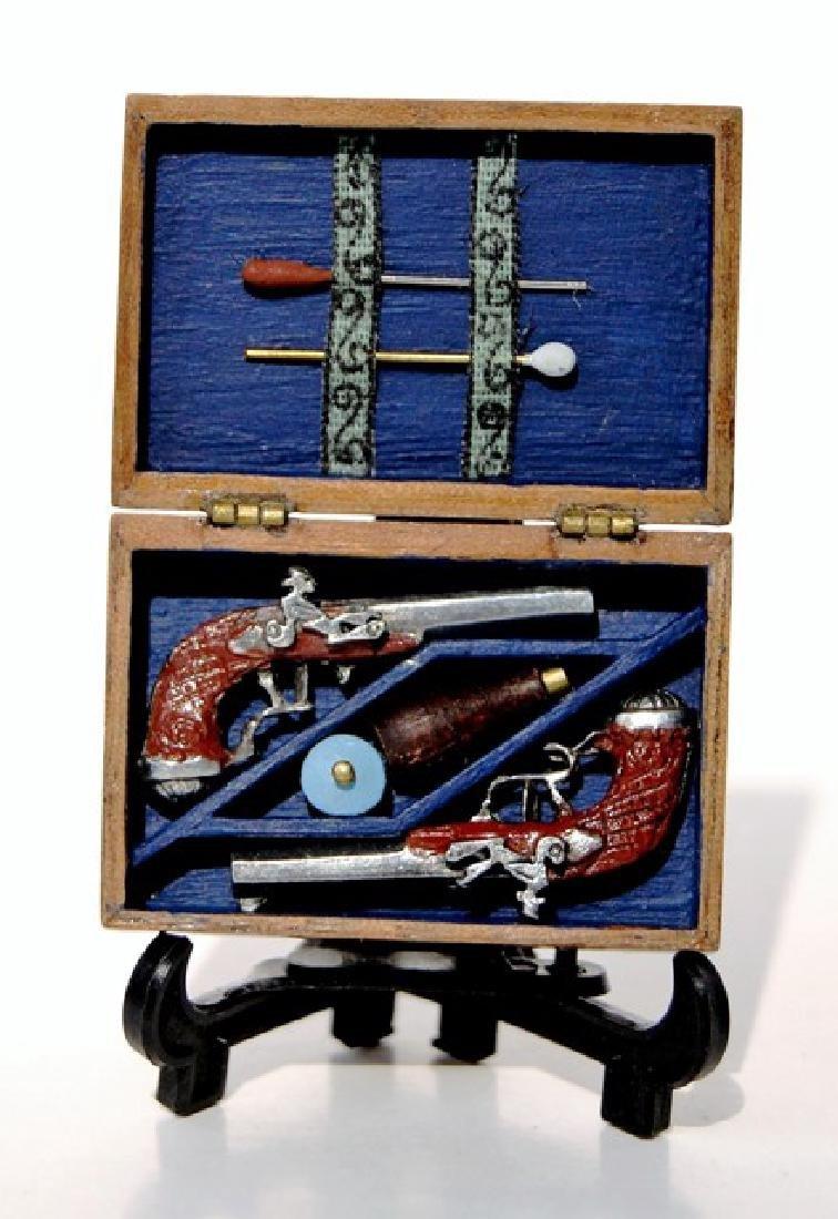 John Davenport Cased Dueling Pistols Dollhouse