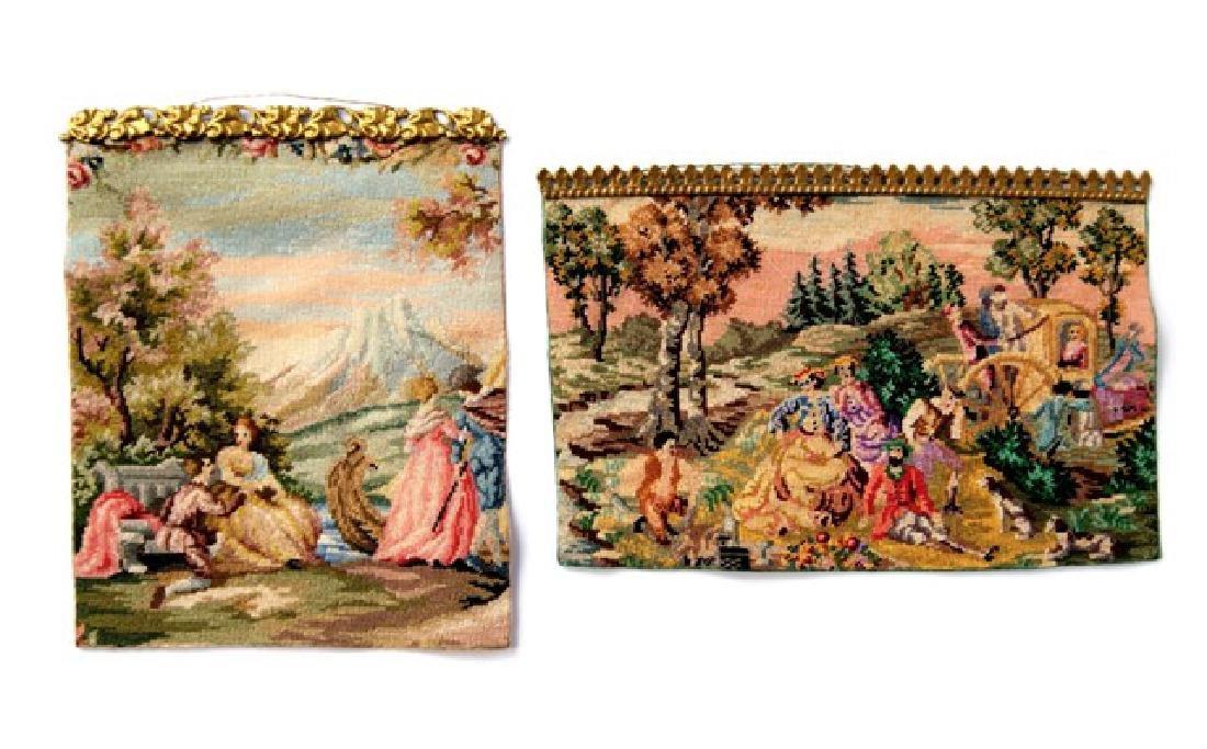 Two Petit Elite Dollhouse Tapestries