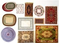 Twelve Dollhouse Rugs