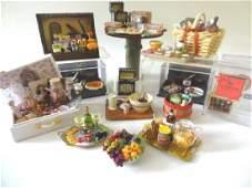 Large Group of Artisan Miniature Food