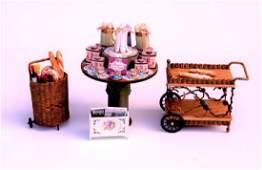 Lisa Enger Tea Table  Ciggy Tea Cart for Dollhouse