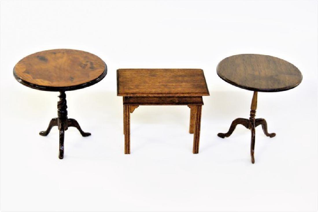 Tom Wolfert & Others Tea Tables Miniatures