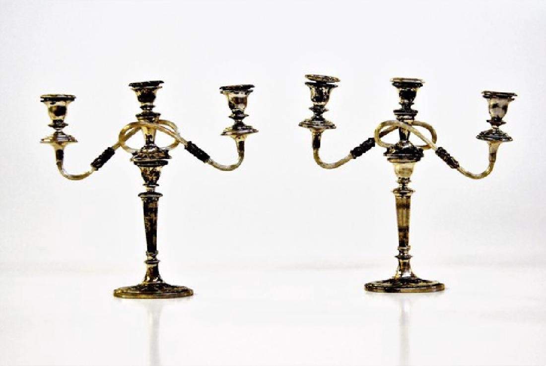 Jens Torp Pair of Sterling Miniature Candelabras
