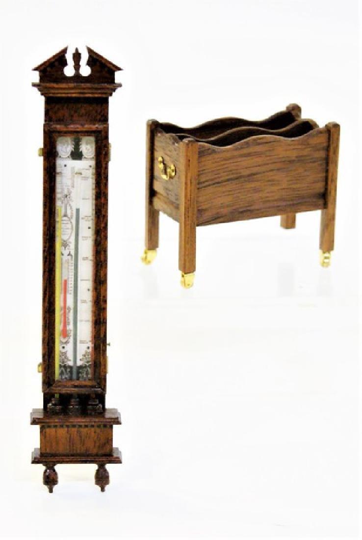 Jim Watt Miniature Barometer & Gardner Magazine Rack