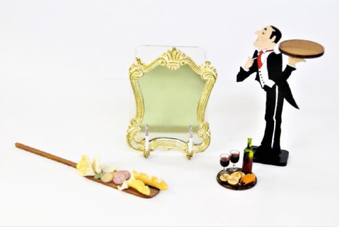 Mr. K. Lighted Dollhouse Mirror & Butler