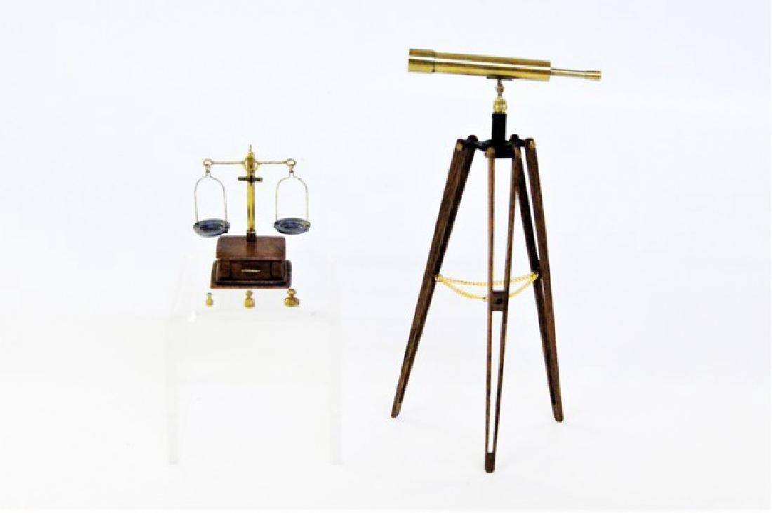 Artisan Miniature Telescope & Scale