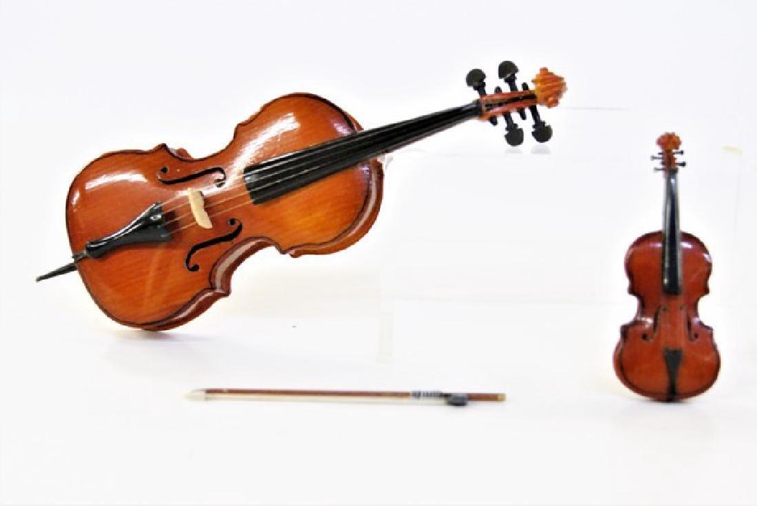 Artisan Miniature Violin and Violia