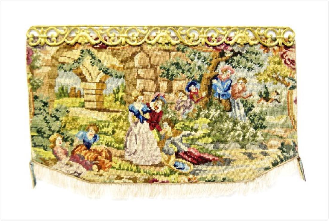 Austrian Petit Point Miniature Tapestry