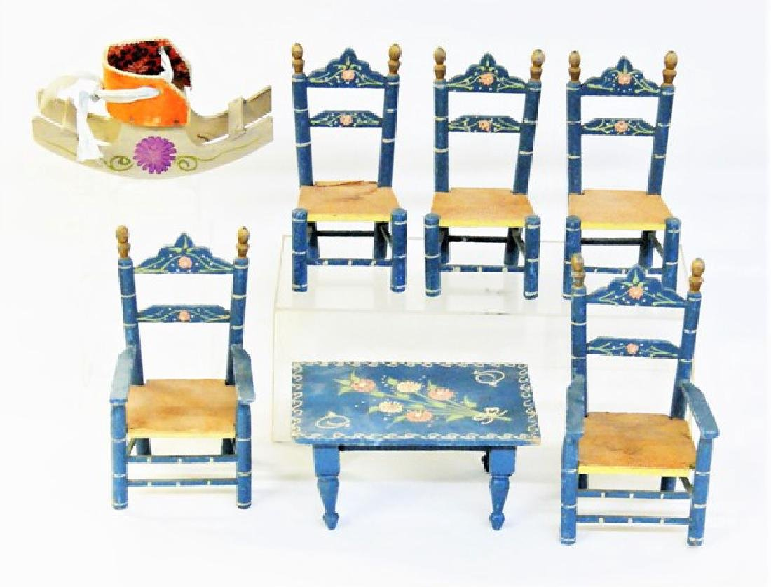 Vintage Scandinavian Dollhouse Furniture