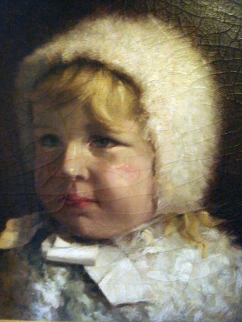 1166: Oil Painting of Victorian Child