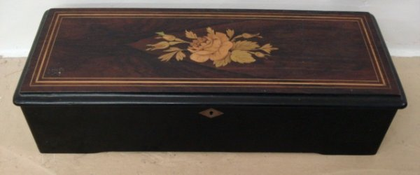 1183: Inlaid Swiss Cylinder Music Box