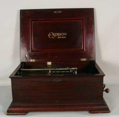 1184: Empress Mahogany Disc Music Box