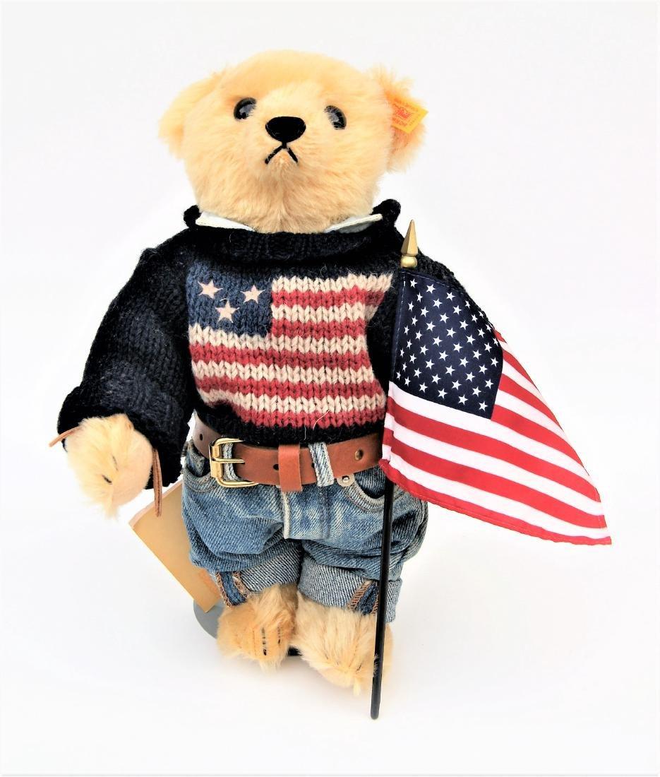 Steiff American Flag Ralph Lauren Polo LE Bear