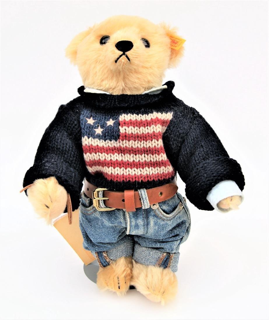 Steiff American Flag Ralph Lauren Polo LE Bear - 2