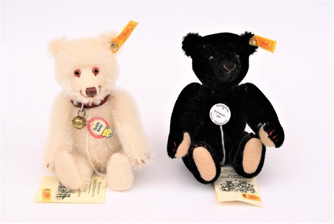 Steiff Teddy Bear Miniature Replicas Black & White - 2