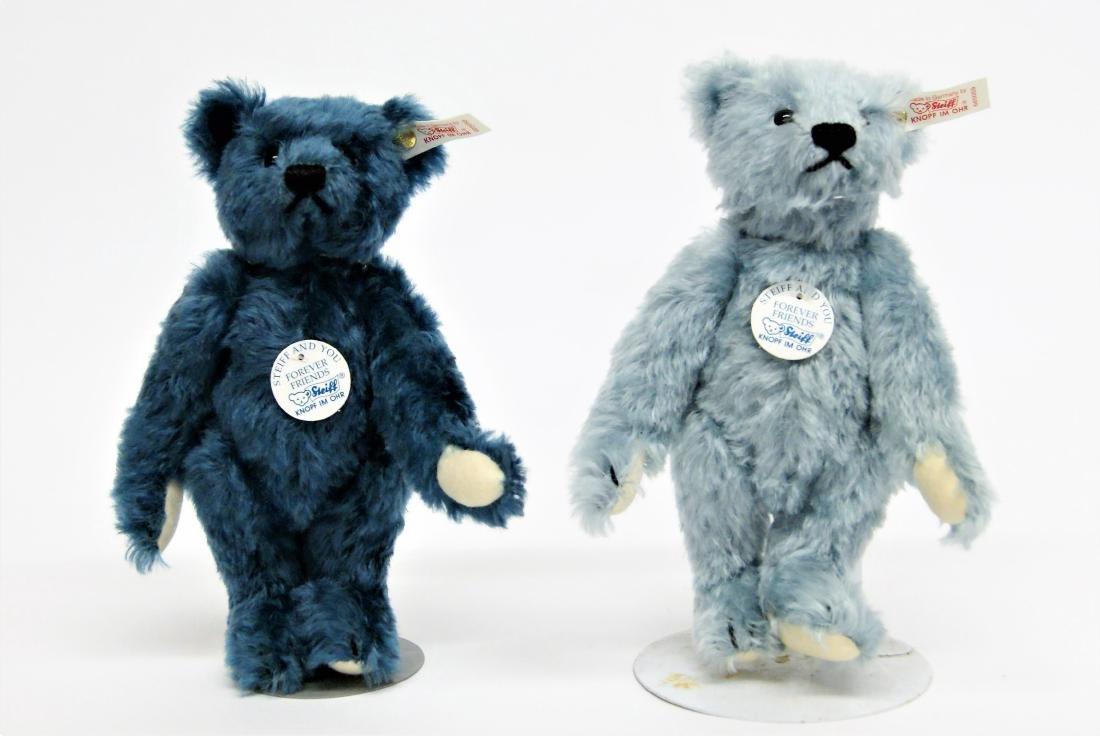 Steiff Forever Friends Pair Of LE Blue Bears