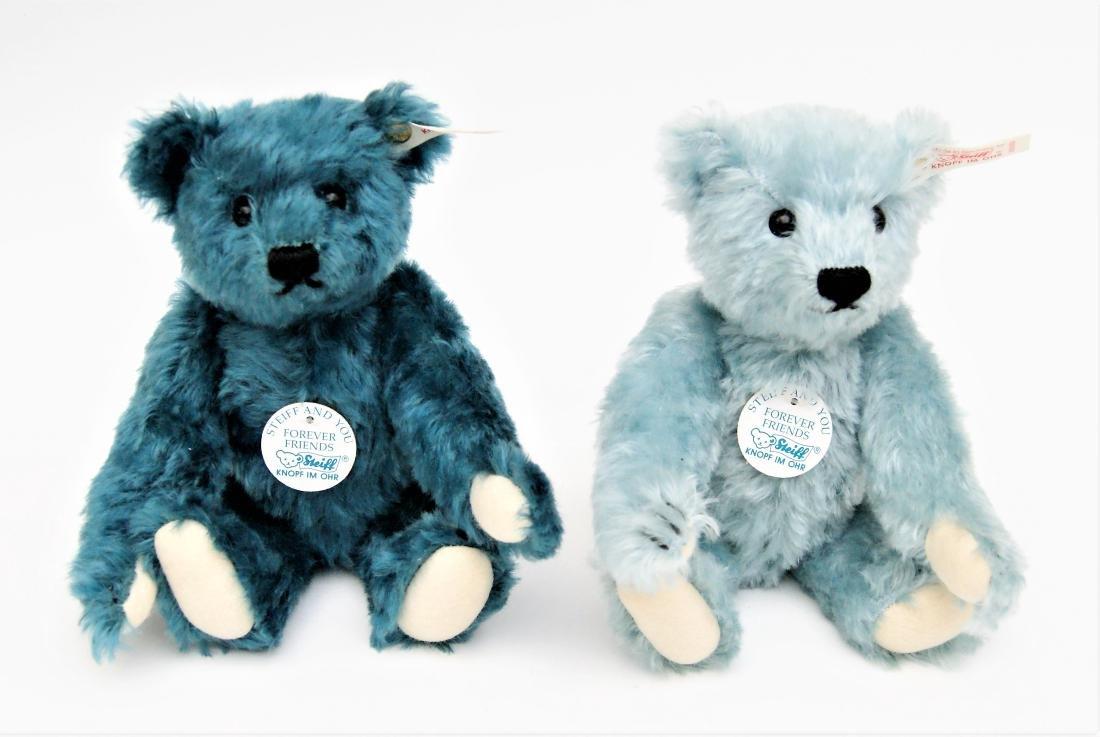 Steiff Forever Friends Pair Of LE Blue Bears - 2