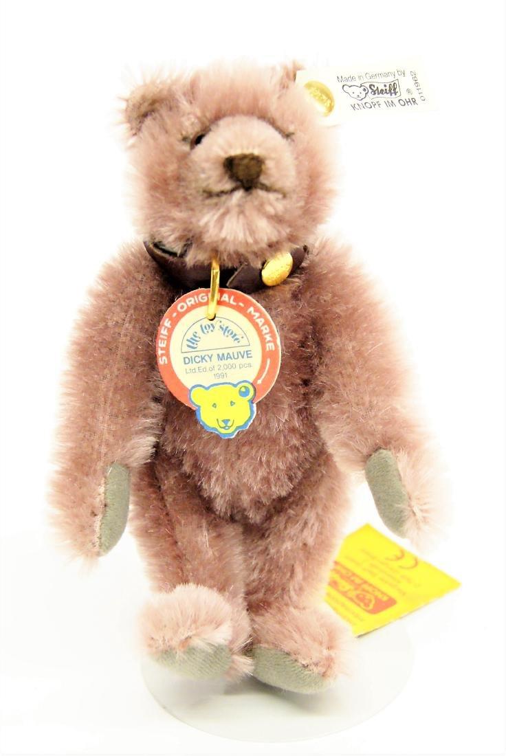 Steiff Dicky Mauve Teddy Bear LE 011962