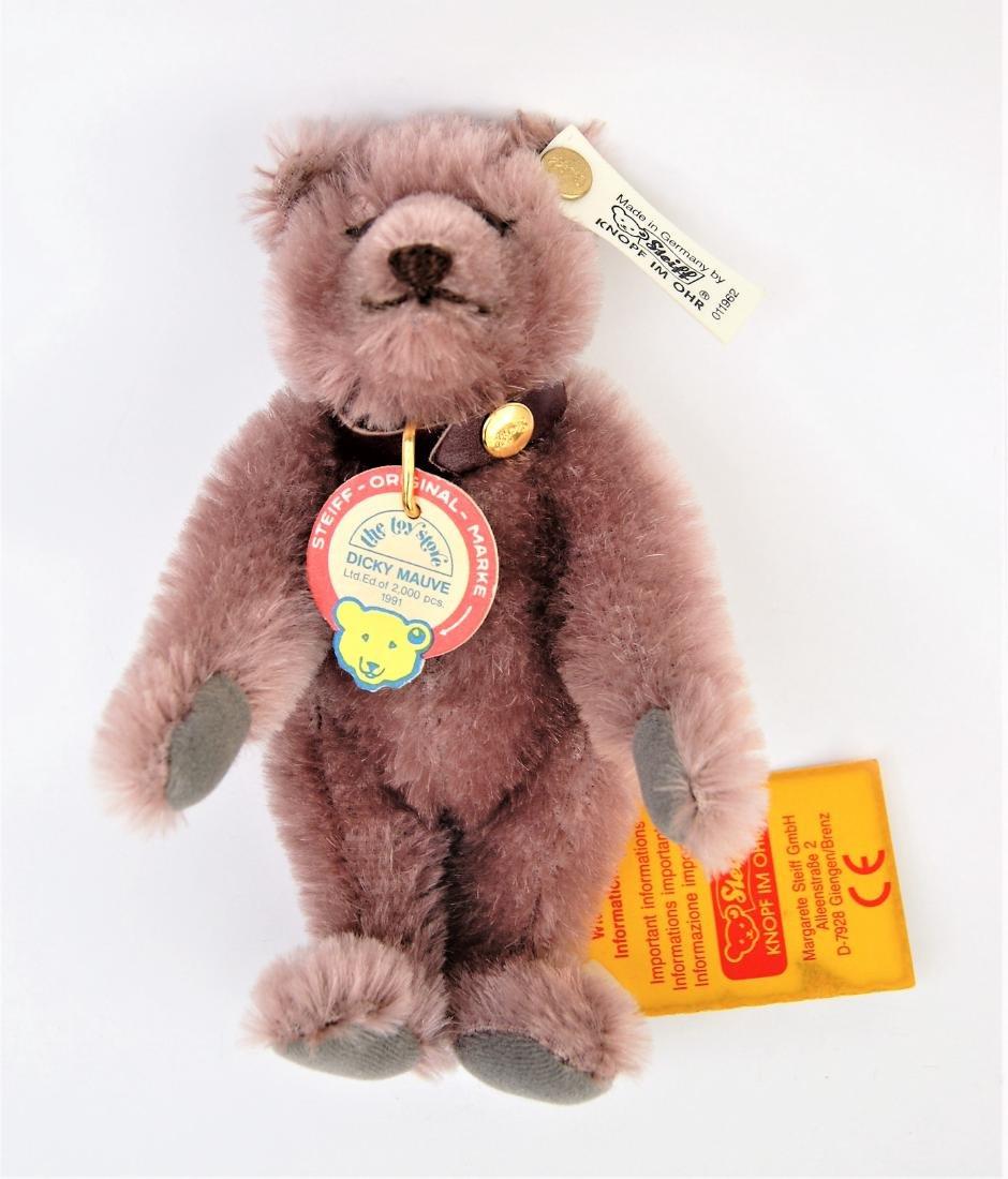 Steiff Dicky Mauve Teddy Bear LE 011962 - 2
