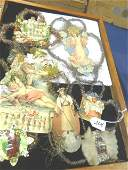 Large lot of Tinsel and Die Cut Ornaments