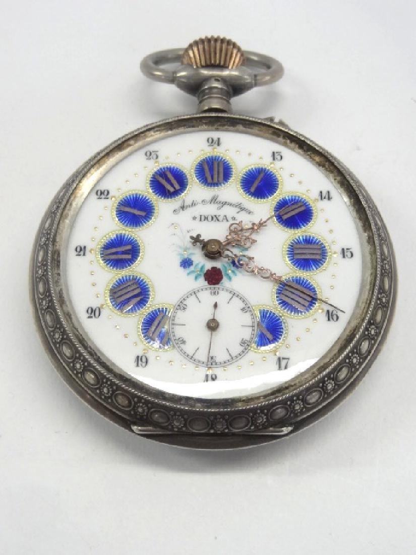 Huge Doxa Railroad Pocket Watch