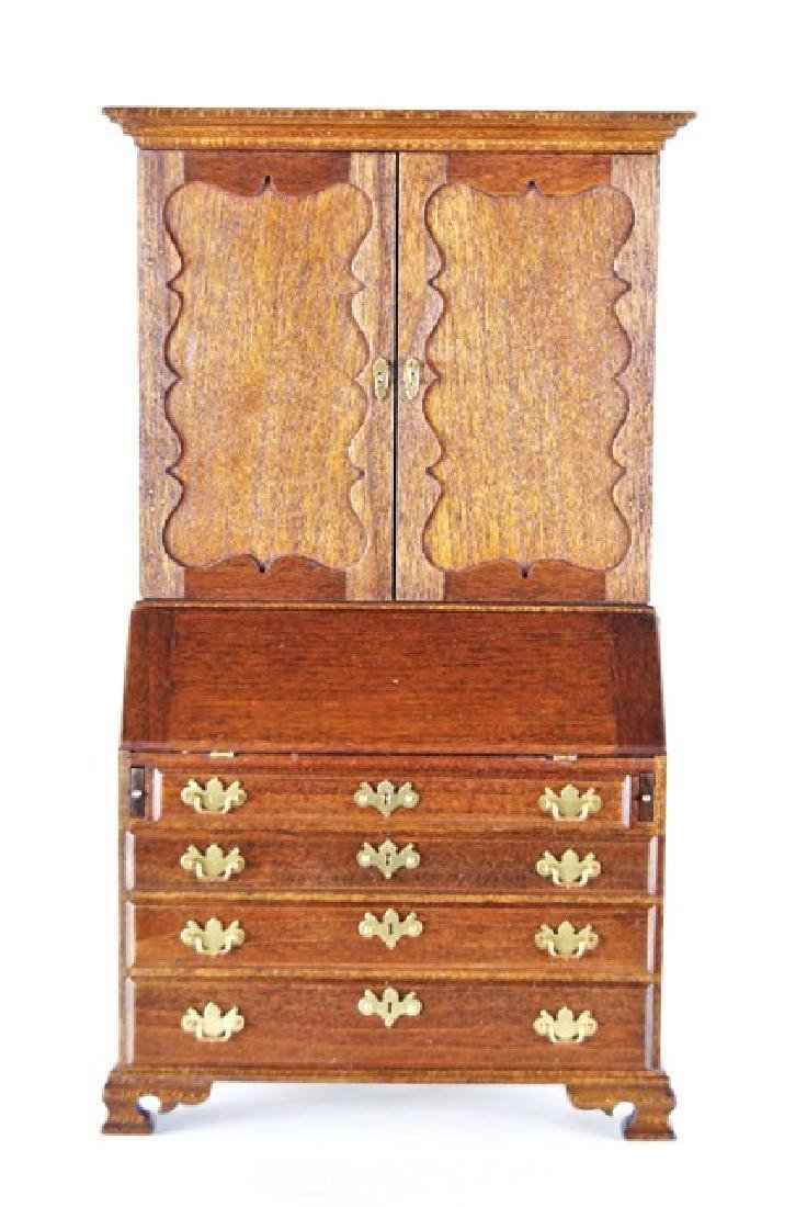 Roger Gutheil Bookcase Desk Dollhouse Miniature