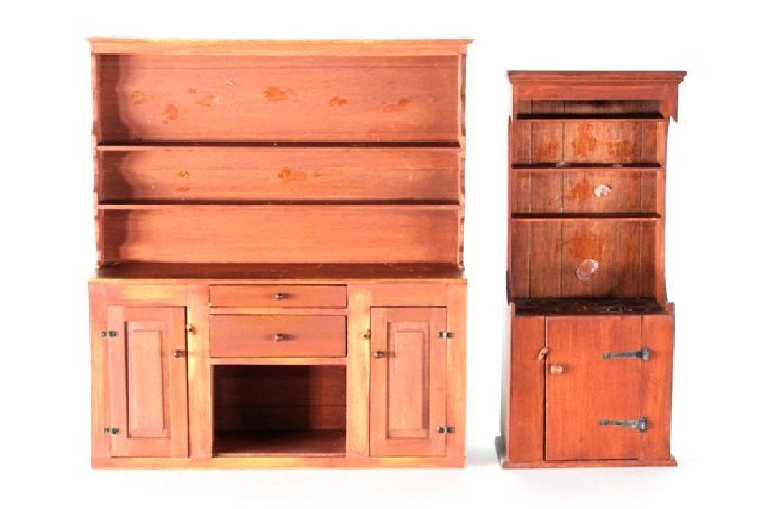 George Hoffman Pewter Cupboard & Cabinet Dollhouse